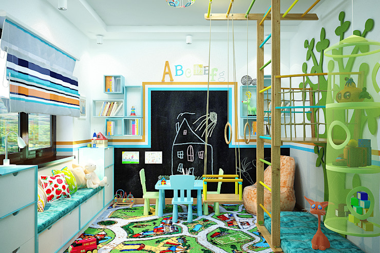 Студия дизайна ROMANIUK DESIGN Modern nursery/kids room