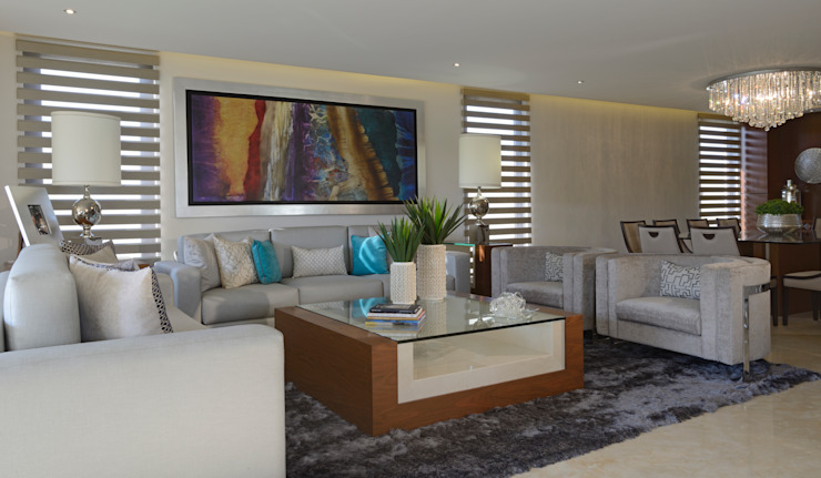 Living room by VICTORIA PLASENCIA INTERIORISMO