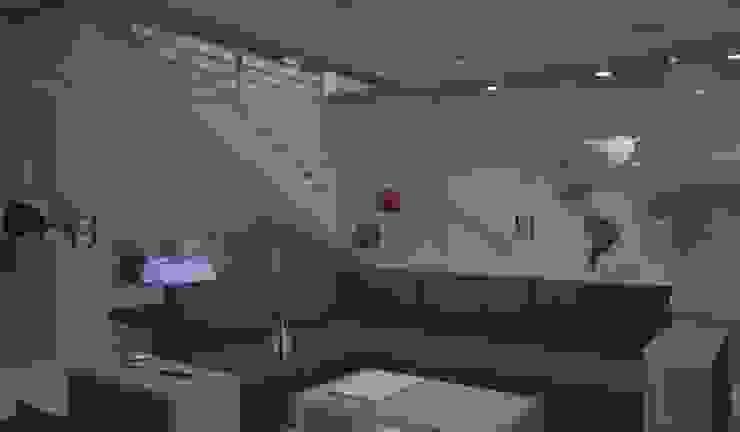 diparmaespositoarchitetti Minimalist corridor, hallway & stairs