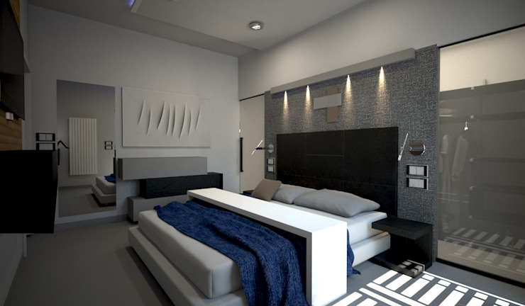 Bedroom by diparmaespositoarchitetti,