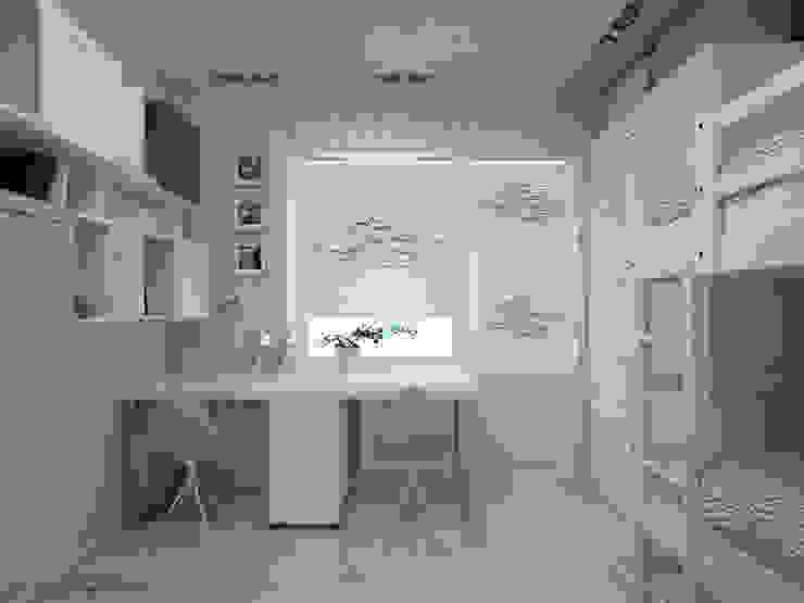 Projekty,  Pokój dziecięcy zaprojektowane przez ALENA SERGIENKO, Eklektyczny Drewno O efekcie drewna