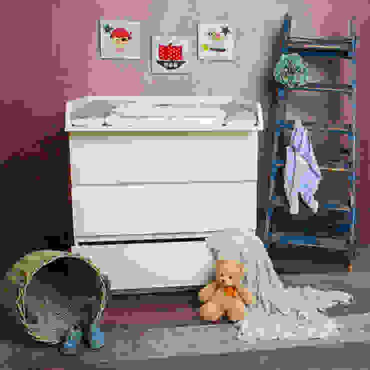 PuckDaddy Chambre d'enfantsPenderies et commodes Panneau d'aggloméré Blanc