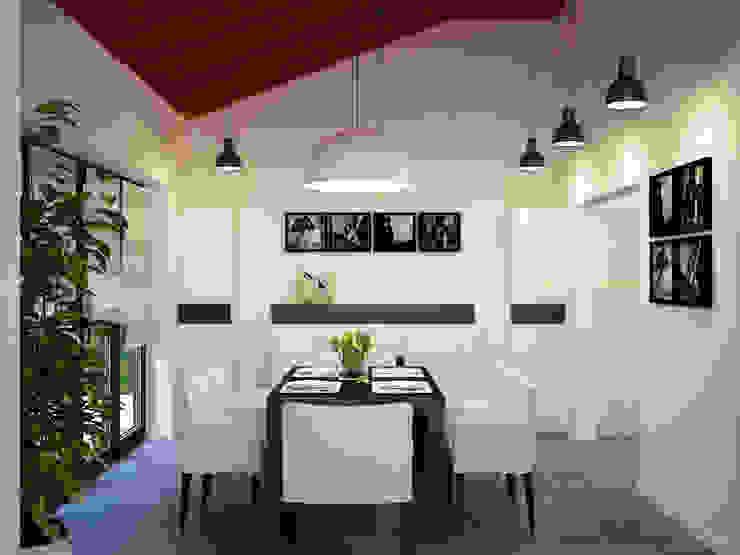 Кухня и обеденная группа Столовая комната в эклектичном стиле от ALENA SERGIENKO Эклектичный
