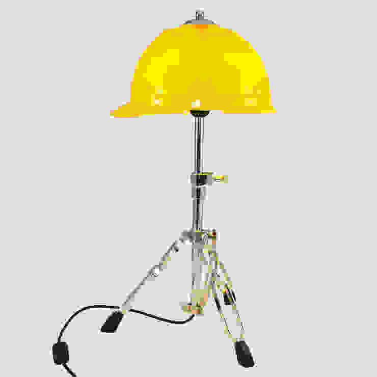 'GET AHEAD GET A HAT' TABLE LAMP/DESK LIGHT it's a light Ruang Keluarga Gaya Eklektik Yellow