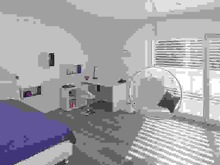 Energetische Sanierung & Umbau Einfamilienhaus Moderne Kinderzimmer von architektur______linie Modern