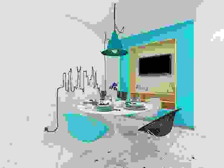 Industrial style kitchen by Дизайн студия Марины Геба Industrial