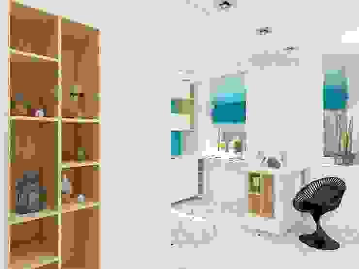 Уютный намек на лофт Кухня в стиле лофт от Дизайн студия Марины Геба Лофт