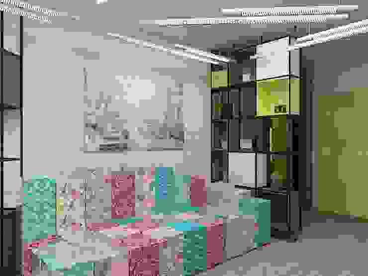 Уютный намек на лофт Гостиная в стиле лофт от Дизайн студия Марины Геба Лофт