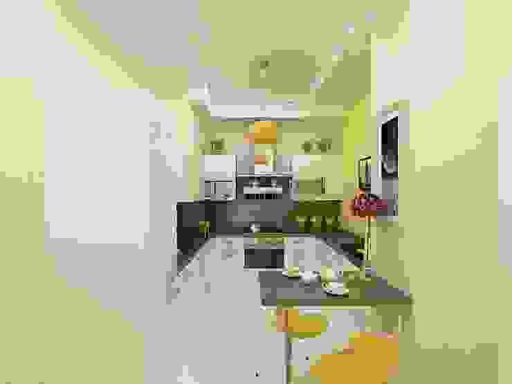 Cocinas minimalistas de Дизайн студия Марины Геба Minimalista