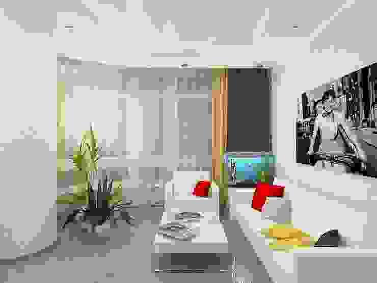 Salas de estilo  por Дизайн студия Марины Геба, Minimalista