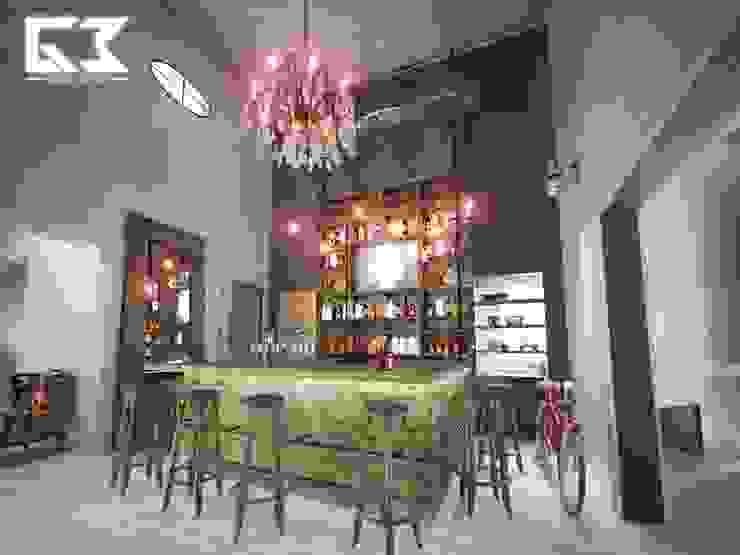 Remodelación Restaurante Bares y clubs de estilo ecléctico de G3 Arquitectos Ecléctico