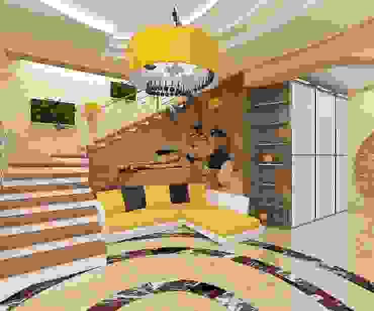 Витражное солнцеЕ Гостиная в стиле минимализм от Дизайн студия Марины Геба Минимализм