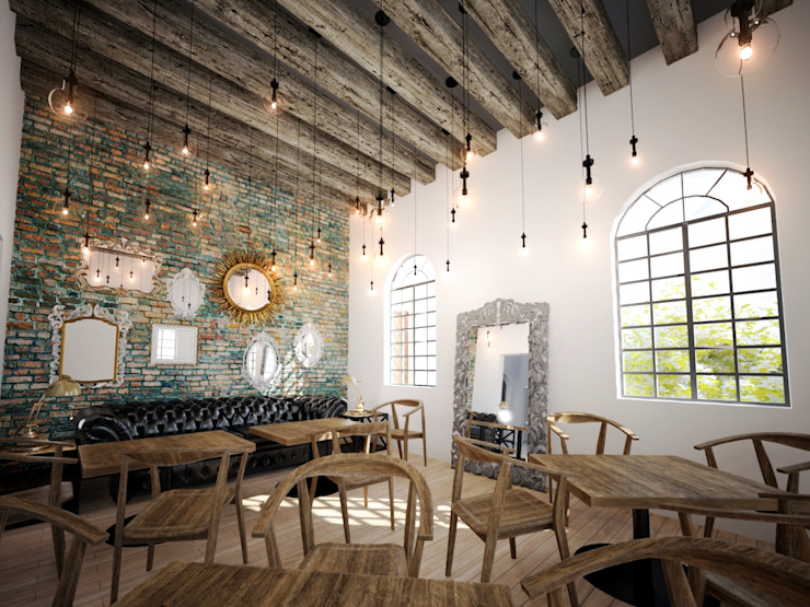 Remodelación Restaurante Gastronomía de estilo ecléctico de G3 Arquitectos Ecléctico