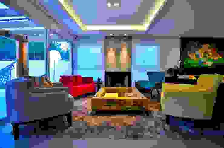 Iluminação Modern living room by ARQ Ana Lore Burliga Miranda Modern