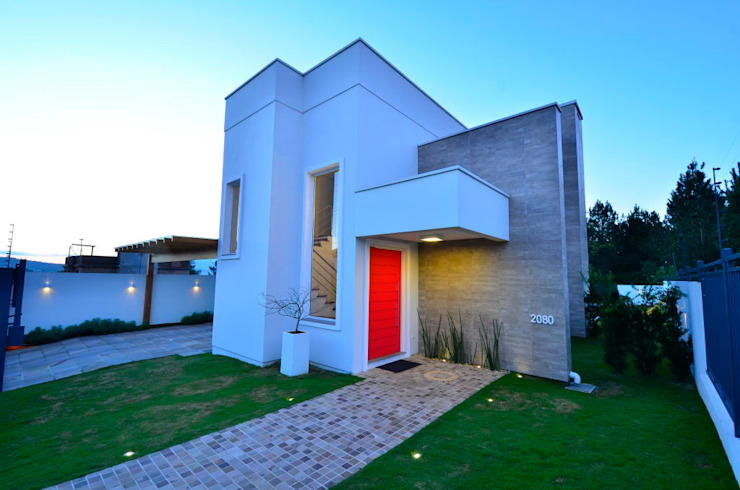 Fachada principal Casas modernas de ARQ Ana Lore Burliga Miranda Moderno