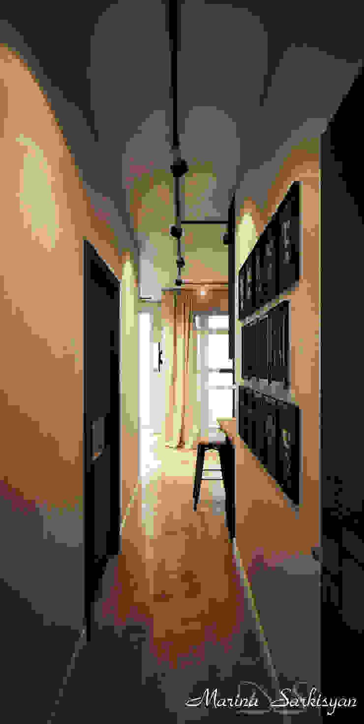 "<q class=""-first"">Мокко</q> Коридор, прихожая и лестница в модерн стиле от Marina Sarkisyan Модерн"