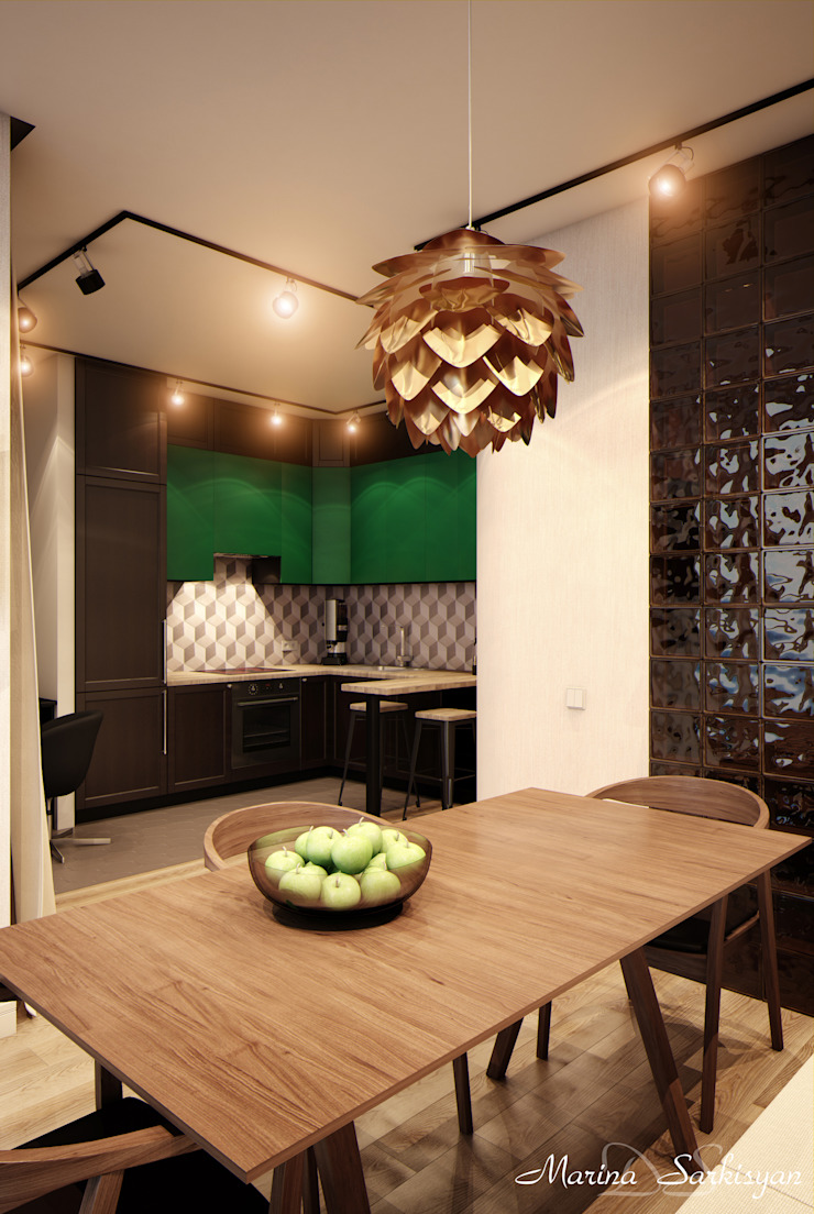 "<q class=""-first"">Мокко</q> Кухня в стиле модерн от Marina Sarkisyan Модерн"
