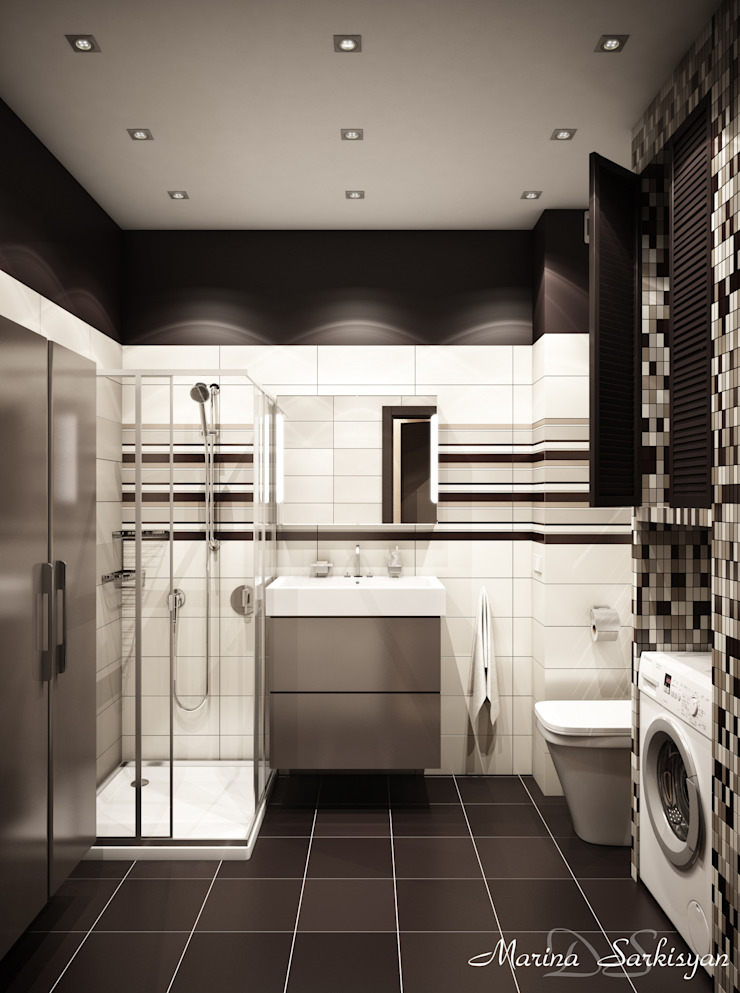 "<q class=""-first"">Мокко</q> Ванная комната в стиле модерн от Marina Sarkisyan Модерн"