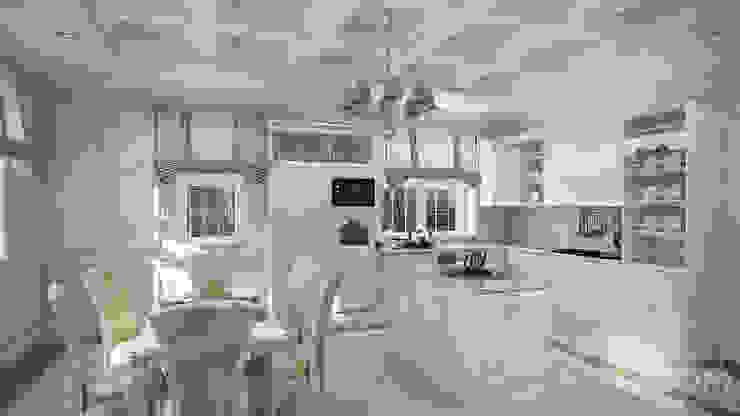 Проект 031: интерьер частного дома Столовая комната в классическом стиле от студия визуализации и дизайна интерьера '3dm2' Классический