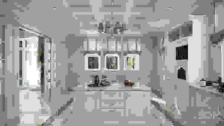 Проект 031: интерьер частного дома Кухня в классическом стиле от студия визуализации и дизайна интерьера '3dm2' Классический