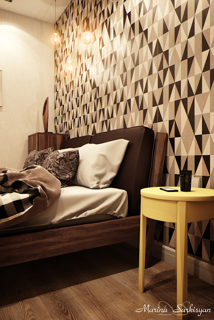 "<q class=""-first"">Мокко</q> Спальня в стиле модерн от Marina Sarkisyan Модерн"