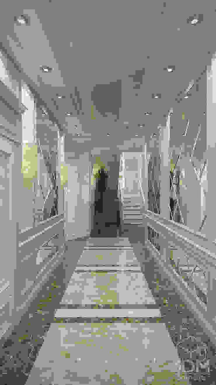 Проект 031: интерьер частного дома Коридор, прихожая и лестница в классическом стиле от студия визуализации и дизайна интерьера '3dm2' Классический