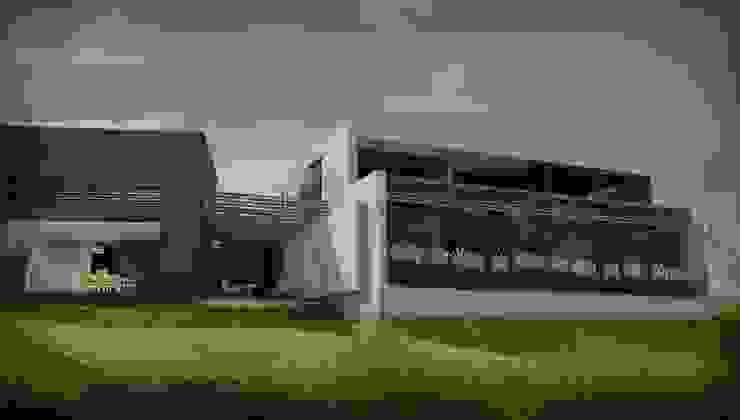 Casas modernas por GANDIA ARQUITECTOS Moderno Pedra