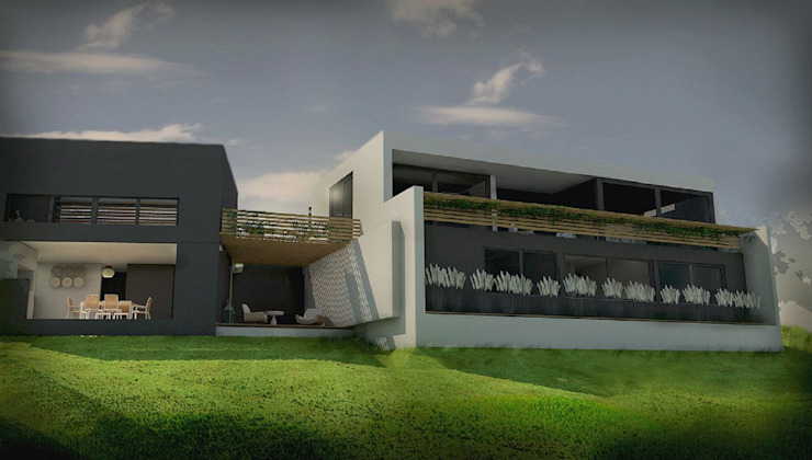 Modern houses by GANDIA ARQUITECTOS Modern پتھر