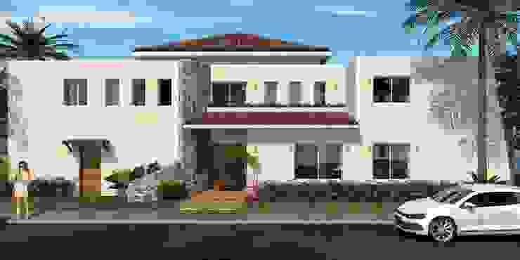 Casa Playa Casas tropicales de ESTUDIO 275 ARQUITECTURA Tropical Aglomerado