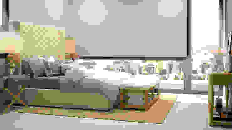 غرفة نوم تنفيذ CONTRASTE INTERIOR, كلاسيكي قماش Amber/Gold