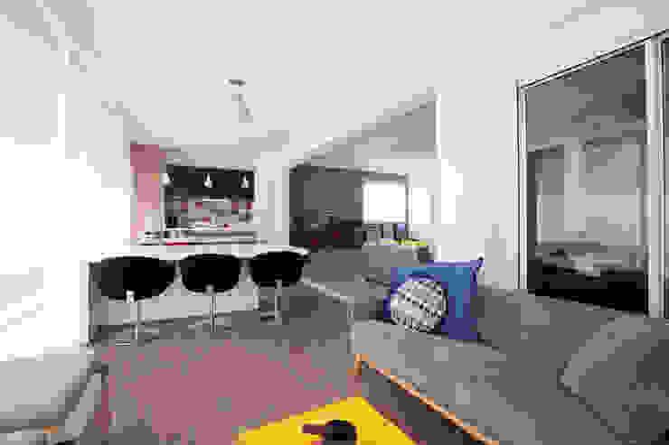 Apartamento Itaim Varandas, alpendres e terraços modernos por Arquitetura Juliana Fabrizzi Moderno