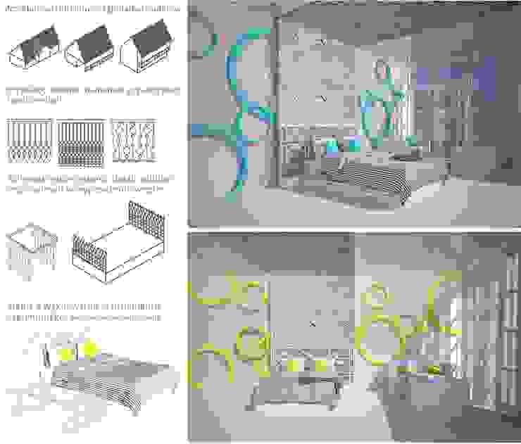 Hotéis modernos por kreARTywni_ studio projektowe Moderno OSB