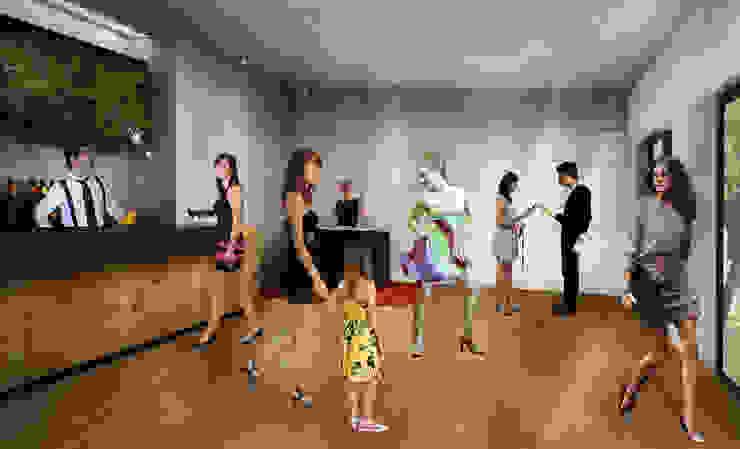 Salas de estar  por Paula Werneck Arquitetura,