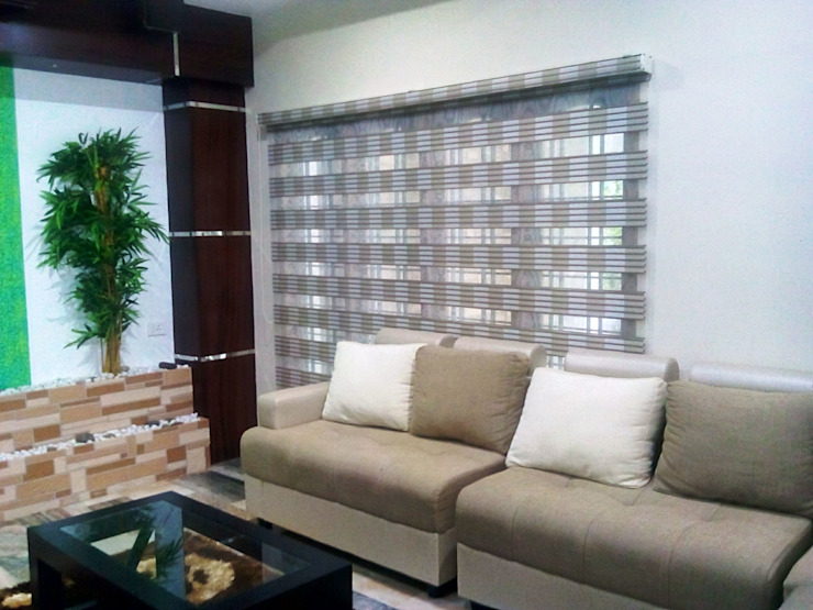 Pleated Zebra Blinds: modern  by Clinque window blind systems,Modern