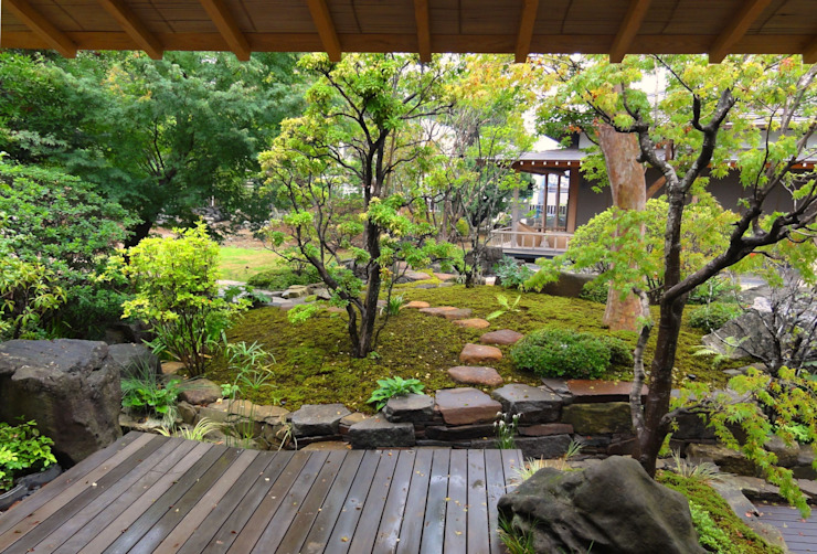 東屋からの眺め オリジナルな 庭 の 木村博明 株式会社木村グリーンガーデナー オリジナル