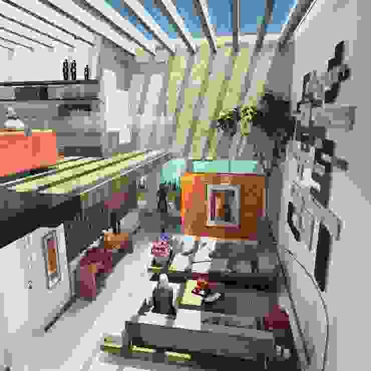 Milla Arquitectos S.A. de C.V. Living room White