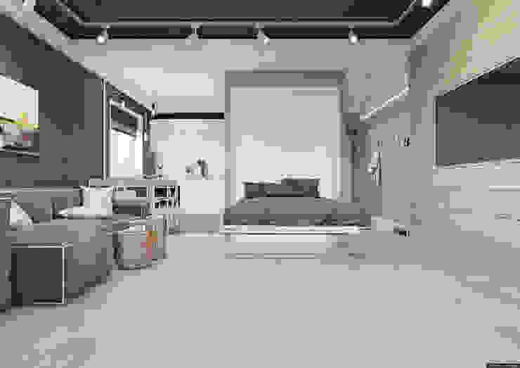 Холостяцкое жилье в 36-и метрах Гостиная в стиле минимализм от BRO Design Studio Минимализм