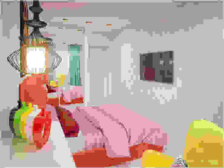 Апартаменты в стиле Поп-Арт Спальня в стиле модерн от ООО 'ИНТЕРИОР' Модерн