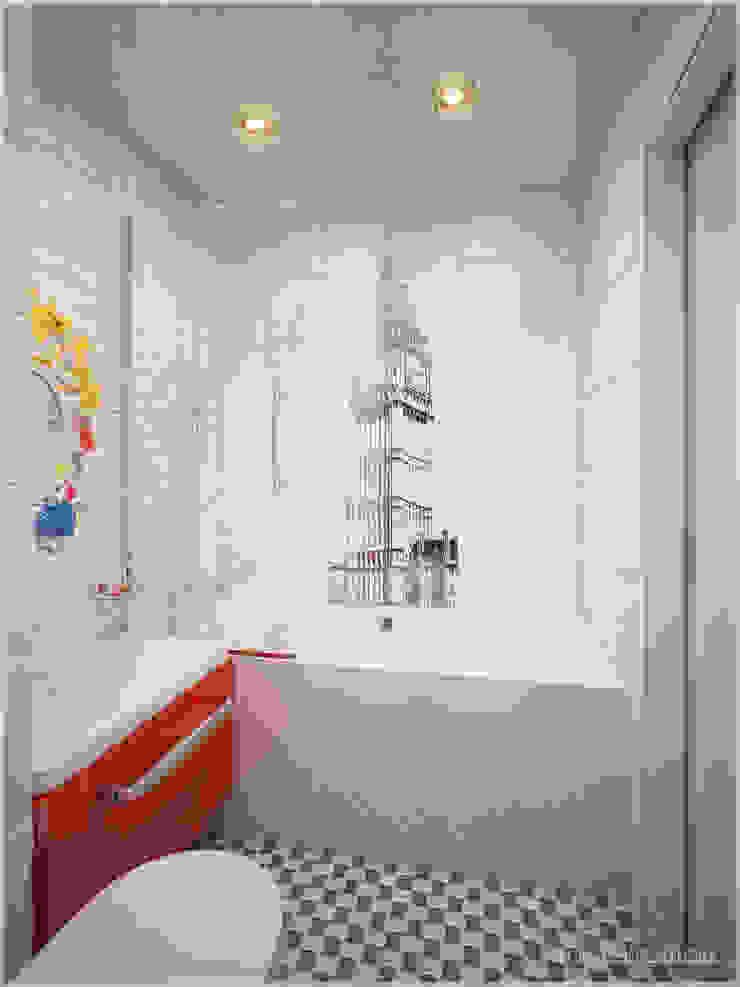 Апартаменты в стиле Поп-Арт Ванная комната в стиле модерн от ООО 'ИНТЕРИОР' Модерн