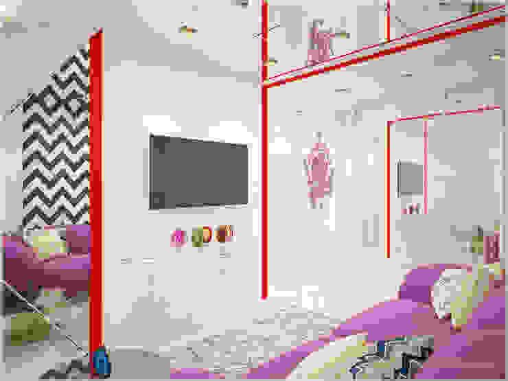 Апартаменты в стиле Поп-Арт Гостиная в стиле модерн от ООО 'ИНТЕРИОР' Модерн