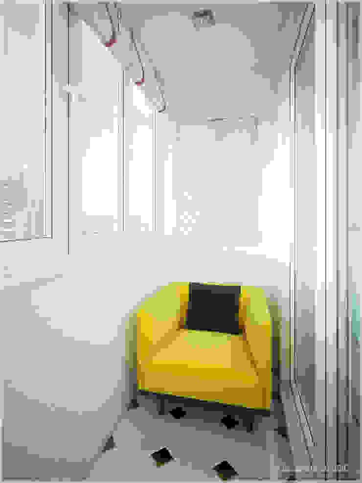 Апартаменты в стиле Поп-Арт Балкон и терраса в стиле модерн от ООО 'ИНТЕРИОР' Модерн