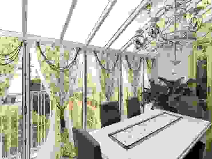 veranda CLASSICA per ATTICO homify Balcone, Veranda & Terrazza in stile classico