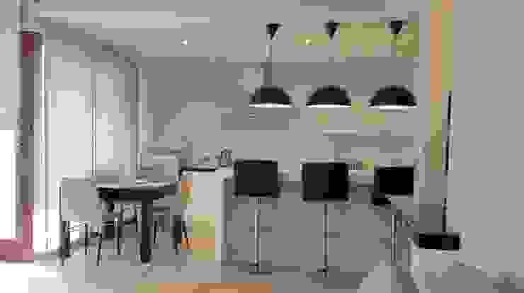 Spokojny apartament na Pańskiej w Warszawie Nowoczesna kuchnia od Project Art Joanna Grudzińska-Lipowska Nowoczesny