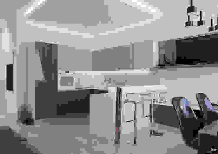 3-к квартира для молодой семьи Гостиная в стиле минимализм от BRO Design Studio Минимализм
