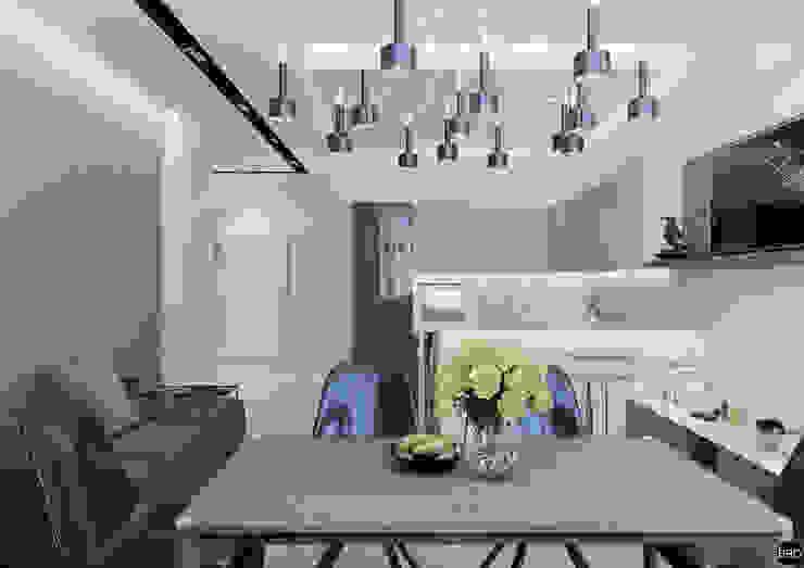 3-к квартира для молодой семьи Кухня в стиле минимализм от BRO Design Studio Минимализм