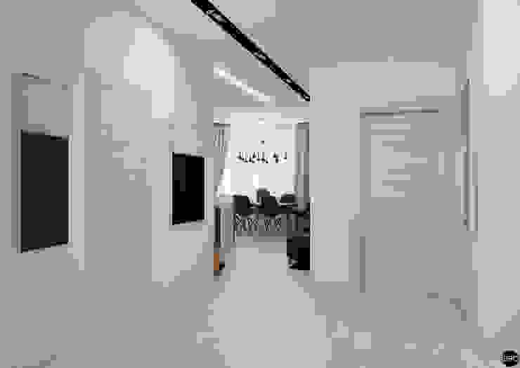3-к квартира для молодой семьи Коридор, прихожая и лестница в стиле минимализм от BRO Design Studio Минимализм
