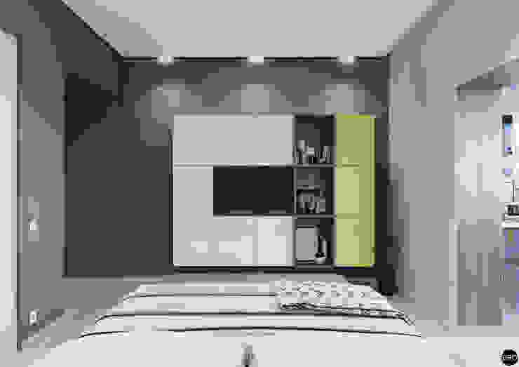 3-к квартира для молодой семьи Спальня в стиле минимализм от BRO Design Studio Минимализм