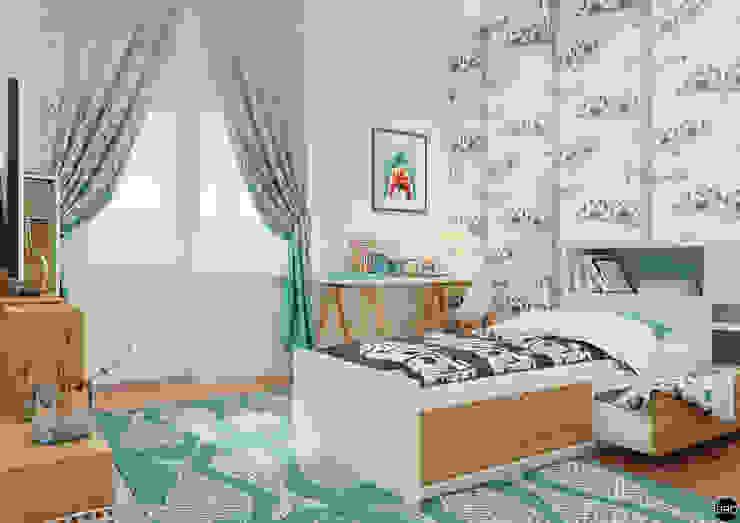 3-к квартира для молодой семьи Детская комнатa в стиле минимализм от BRO Design Studio Минимализм