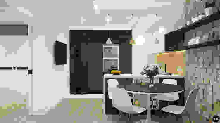 2-к квартира для молодой семьи Кухня в стиле минимализм от BRO Design Studio Минимализм