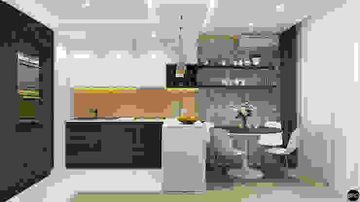 2-к квартира для молодой семьи Столовая комната в стиле минимализм от BRO Design Studio Минимализм
